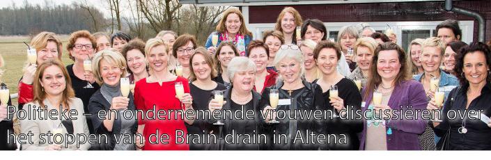 Politieke en ondernemende vrouwen discussiëren over de Brain-drain