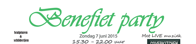 Zondag 7 juni: Benefiet party