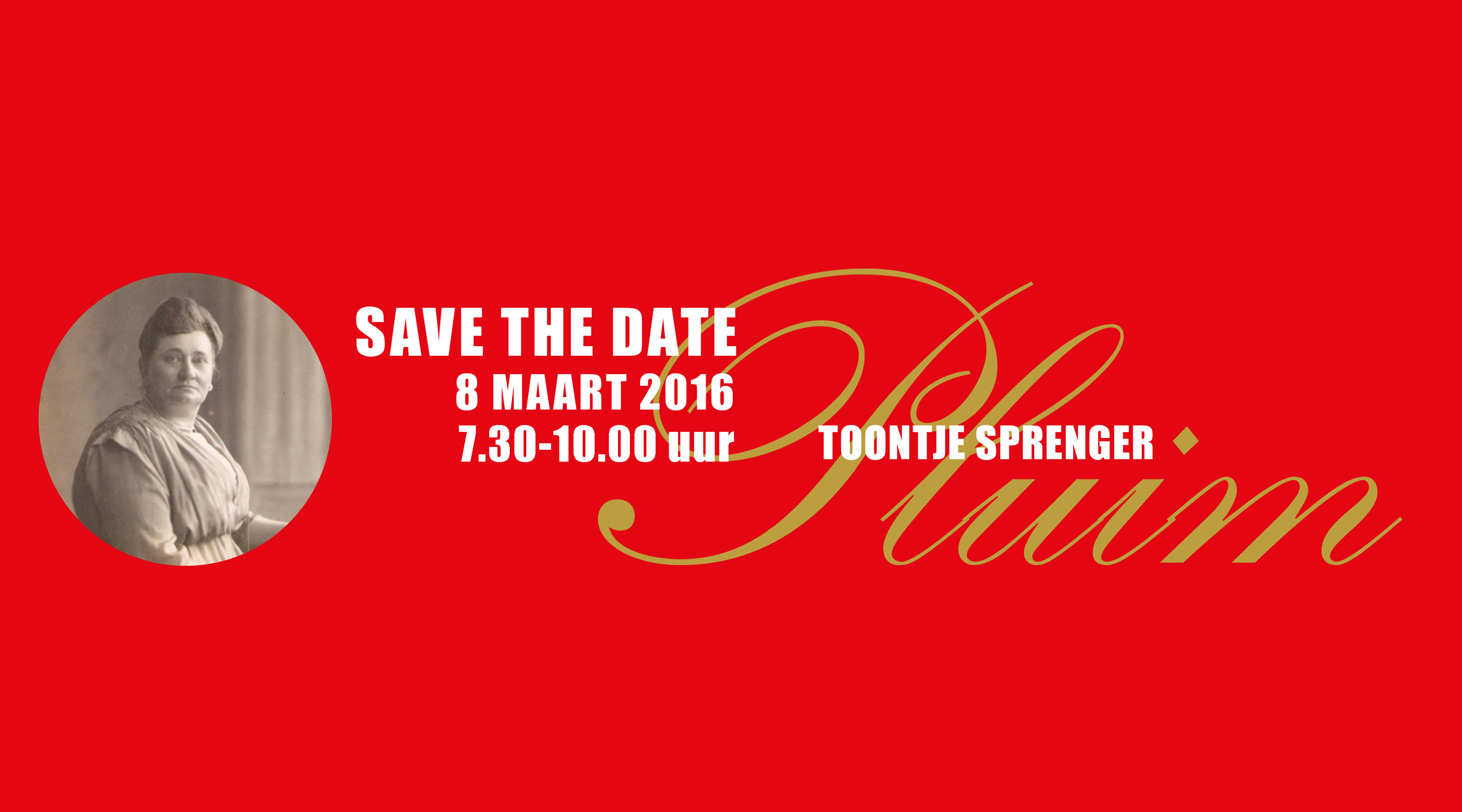 Save the date: Toontje Sprenger Pluim