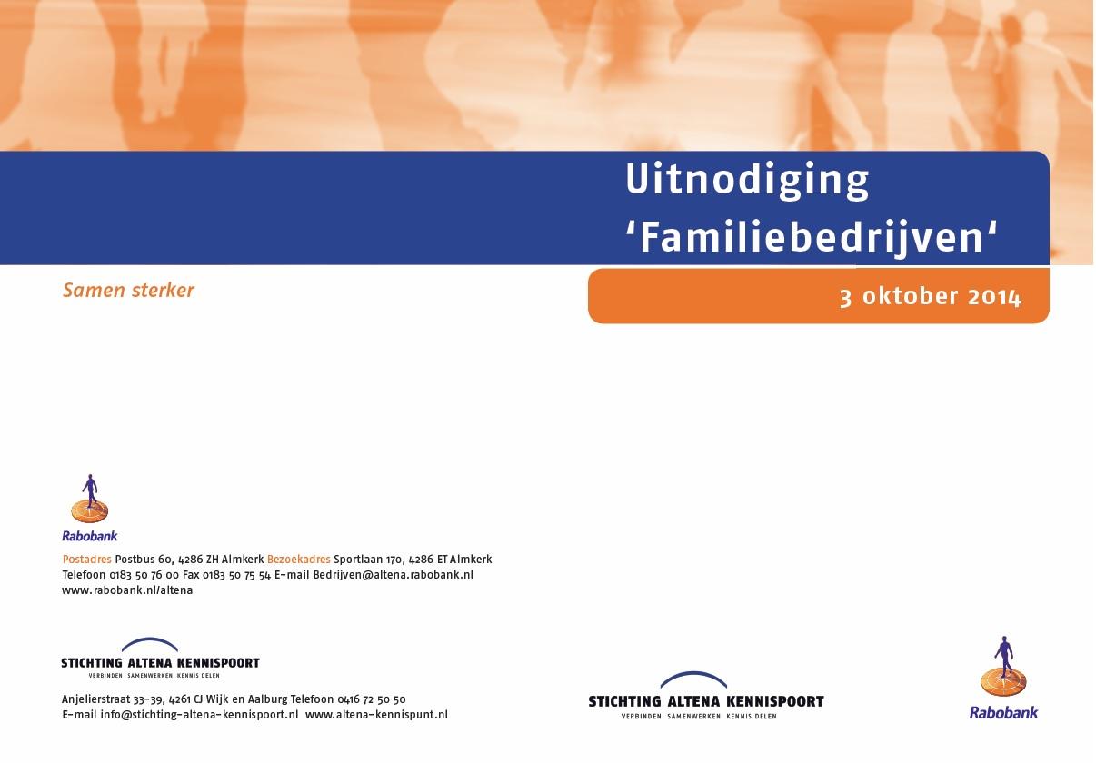 Uitnodiging Familiebedrijven