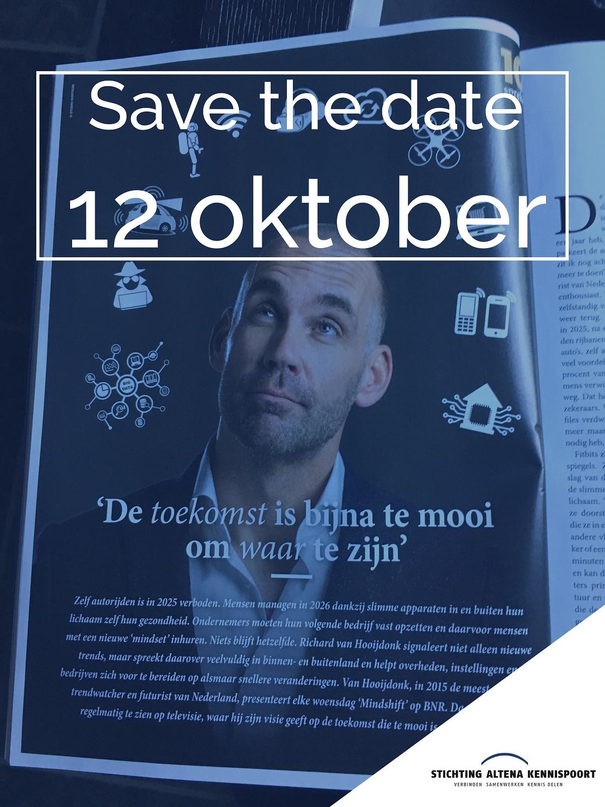 Save the date, 12 oktober !