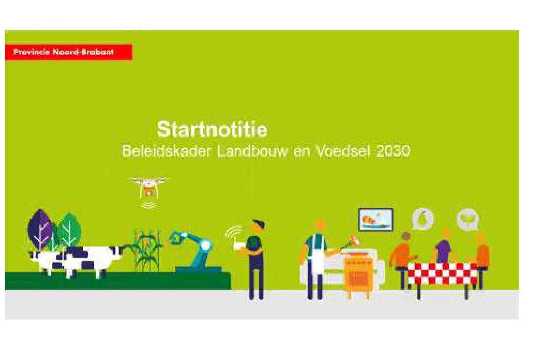 Startnotitie Landbouw en Voedsel 2030
