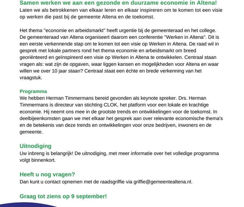 Conferentie Werken in Altena